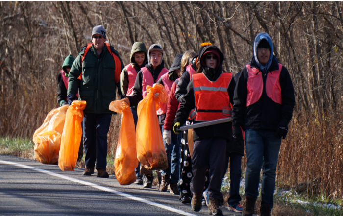 Fall Township Cleanup: 1000 Feet of Street.