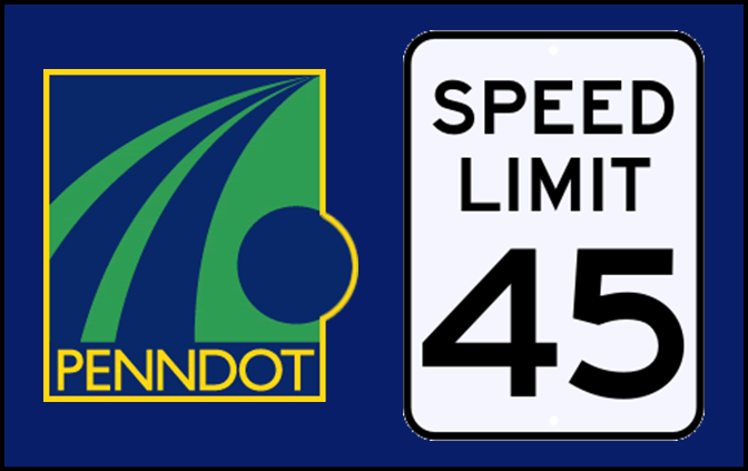 PennDOT Reduces Speed Limits on Major East Central PA Roads