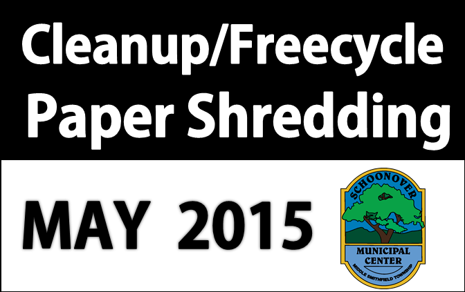 Middle Smithfield Township Spring CLEAN UP:  New and improved!