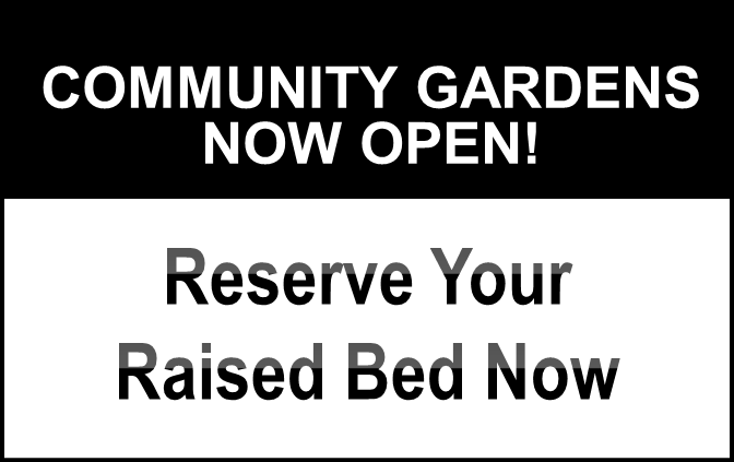The Community Gardens Park is Open!