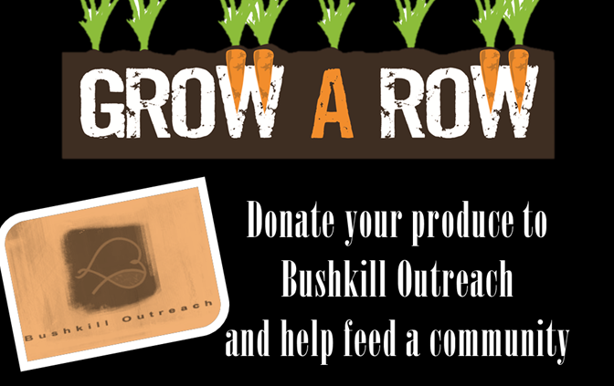 """Grow a Row"" for Charity in the Community Gardens Park!"
