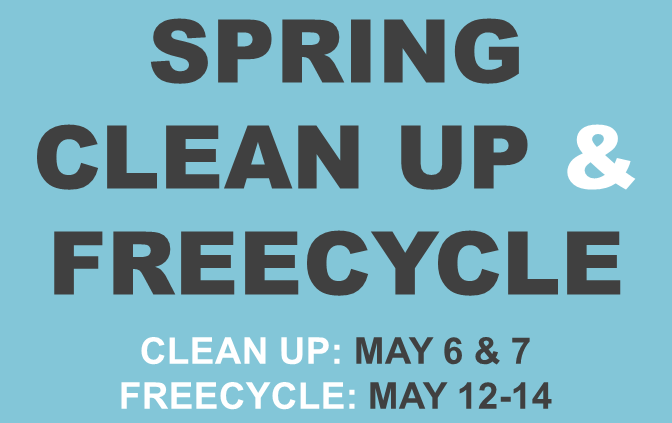 2016 Spring Clean Up & Freecycle