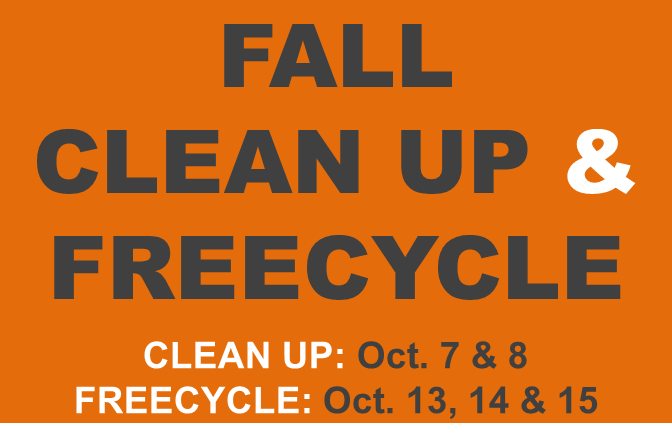Fall 2016 Clean up & Freecycle